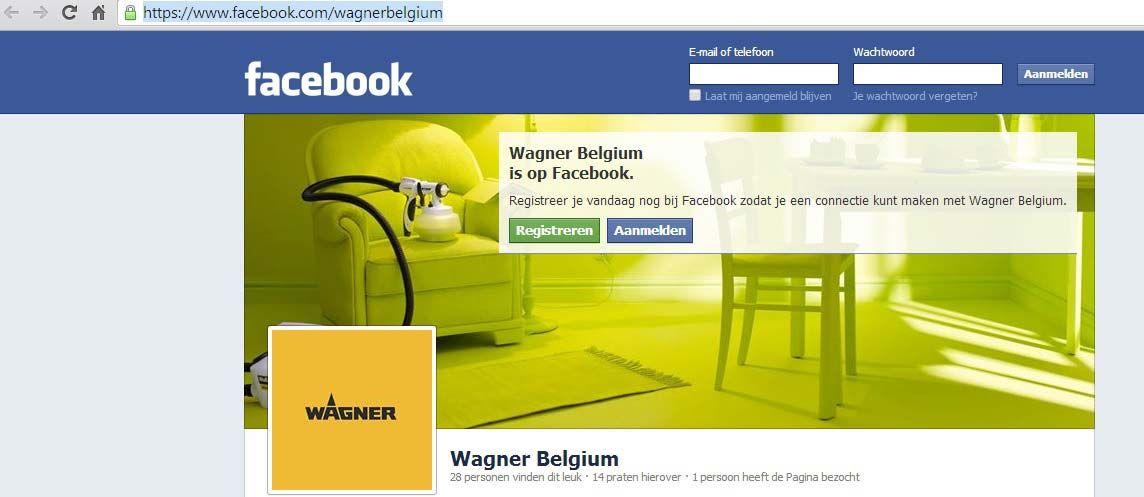 Wagner spuittechniek te vinden op Facebook